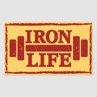 Iron Life Sticker