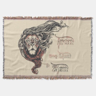 Iron like a Lion in Zion, reggae music, song quote Throw Blanket