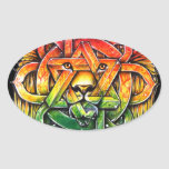 Iron Lion Zion - M1 Oval Sticker