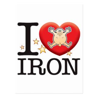 Iron Love Man Postcard