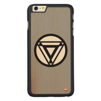 Iron Man Arc Reactor Icon Carved® Maple iPhone 6 Plus Case