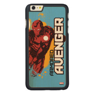 Iron Man Armored Avenger Graphic Carved® Maple iPhone 6 Plus Case