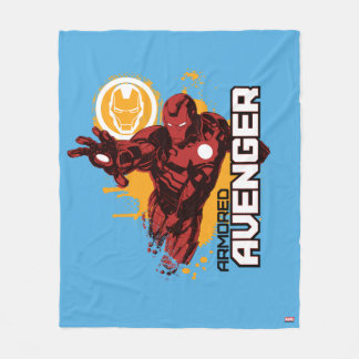 Iron Man Armored Avenger Graphic Fleece Blanket