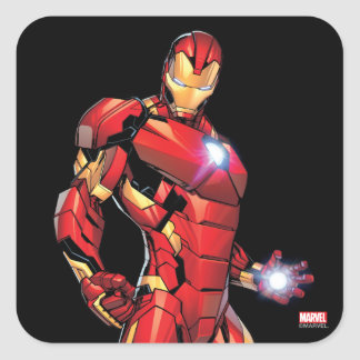 Iron Man Assemble Square Sticker