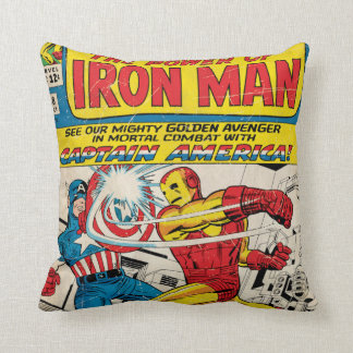 Iron Man Comic #58 Throw Pillow