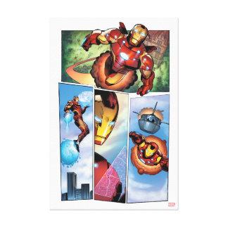 Iron Man Comic Panels Canvas Print