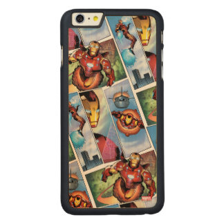 Iron Man Comic Panels Carved® Maple iPhone 6 Plus Case