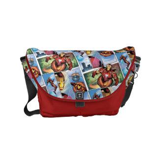 Iron Man Comic Panels Commuter Bags