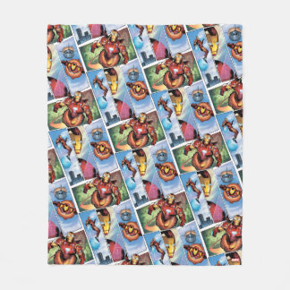 Iron Man Comic Panels Fleece Blanket