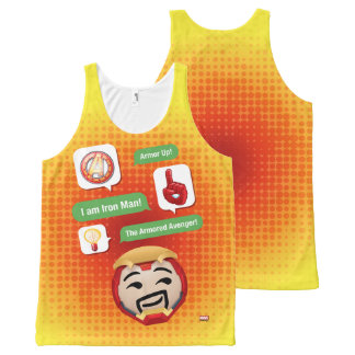 Iron Man Emoji All-Over-Print Tank Top