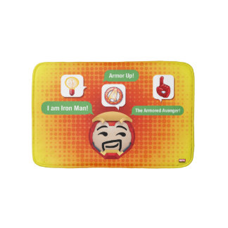 Iron Man Emoji Bath Mat