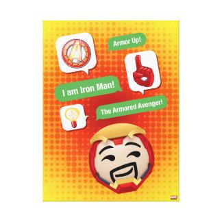 Iron Man Emoji Canvas Print