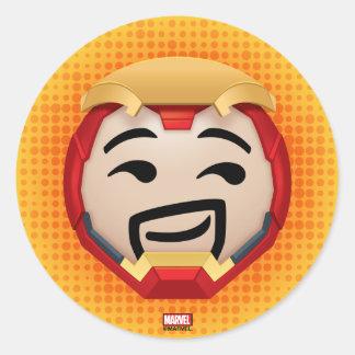 Iron Man Emoji Classic Round Sticker