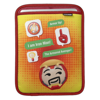 Iron Man Emoji iPad Sleeve