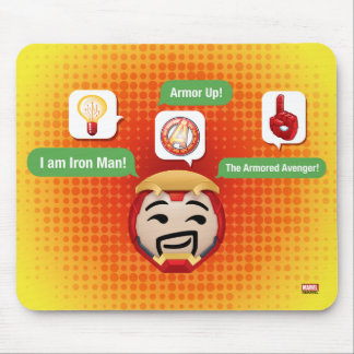 Iron Man Emoji Mouse Pad