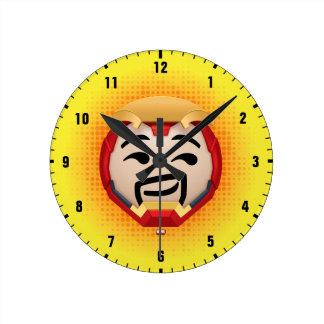 Iron Man Emoji Round Clock