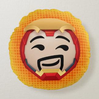 Iron Man Emoji Round Pillow