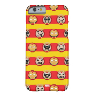 Iron Man Emoji Stripe Pattern Barely There iPhone 6 Case
