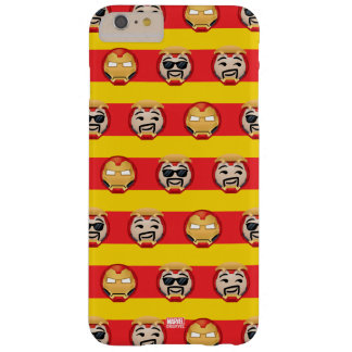Iron Man Emoji Stripe Pattern Barely There iPhone 6 Plus Case