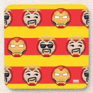 Iron Man Emoji Stripe Pattern Coaster