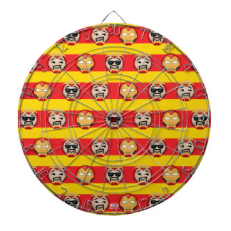 Iron Man Emoji Stripe Pattern Dartboard