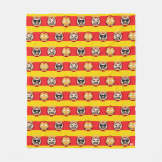 Iron Man Emoji Stripe Pattern Fleece Blanket