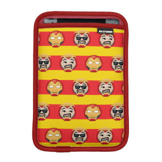 Iron Man Emoji Stripe Pattern iPad Mini Sleeve