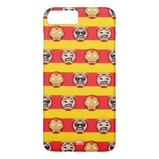 Iron Man Emoji Stripe Pattern iPhone 8 Plus/7 Plus Case