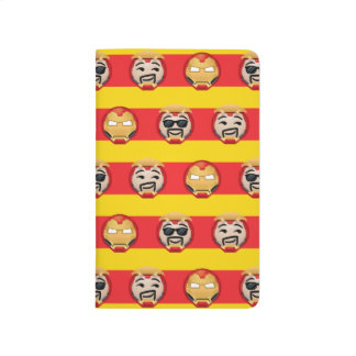 Iron Man Emoji Stripe Pattern Journal