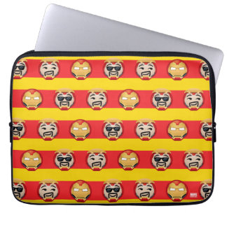 Iron Man Emoji Stripe Pattern Laptop Sleeve