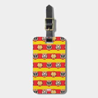Iron Man Emoji Stripe Pattern Luggage Tag