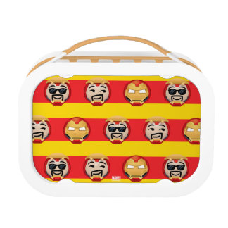 Iron Man Emoji Stripe Pattern Lunchbox