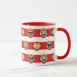 Iron Man Emoji Stripe Pattern Mug
