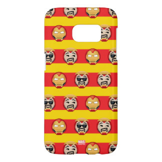 Iron Man Emoji Stripe Pattern Samsung Galaxy S7 Case