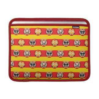 Iron Man Emoji Stripe Pattern Sleeve For MacBook Air