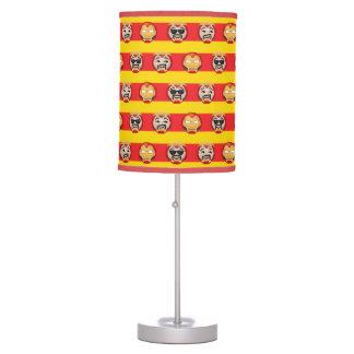 Iron Man Emoji Stripe Pattern Table Lamp