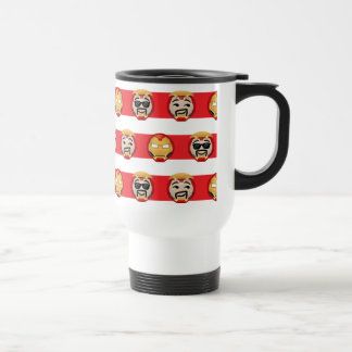 Iron Man Emoji Stripe Pattern Travel Mug