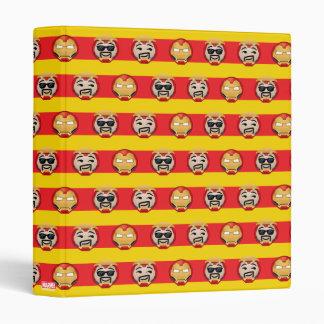 Iron Man Emoji Stripe Pattern Vinyl Binders