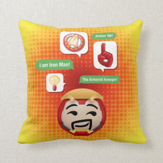 Iron Man Emoji Throw Pillow