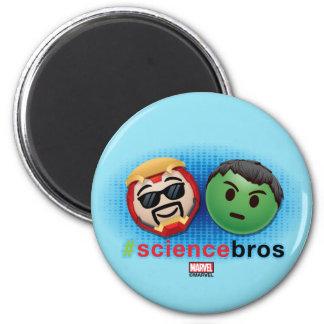 Iron Man & Hulk #sciencebros Emoji 2 Inch Round Magnet