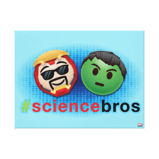 Iron Man & Hulk #sciencebros Emoji Canvas Print