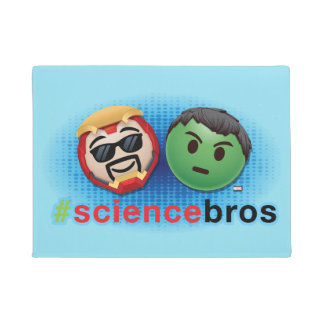 Iron Man & Hulk #sciencebros Emoji Doormat