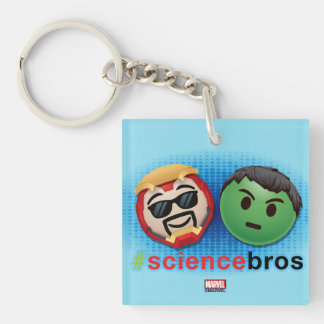 Iron Man & Hulk #sciencebros Emoji Double-Sided Square Acrylic Keychain