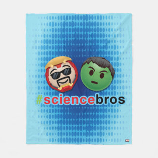 Iron Man & Hulk #sciencebros Emoji Fleece Blanket