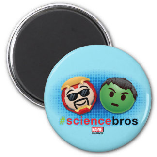 Iron Man & Hulk #sciencebros Emoji Magnet