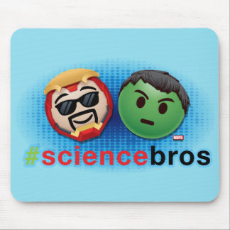 Iron Man & Hulk #sciencebros Emoji Mouse Pad