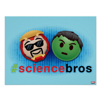 Iron Man & Hulk #sciencebros Emoji Poster