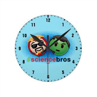 Iron Man & Hulk #sciencebros Emoji Round Clock