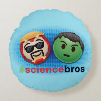 Iron Man & Hulk #sciencebros Emoji Round Pillow