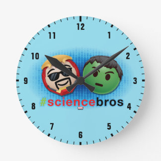 Iron Man & Hulk #sciencebros Emoji Wallclocks